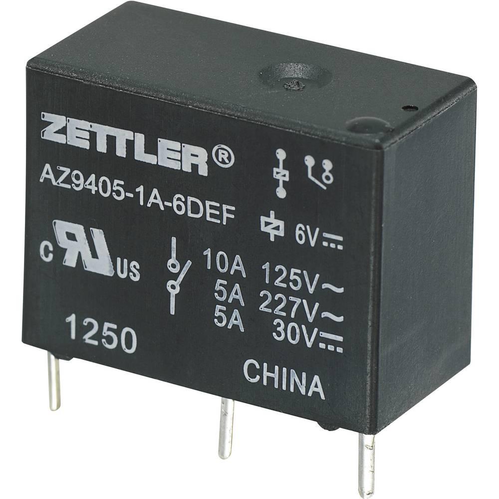 Miniaturni močnostni rele AZ9405, 10 A Zettler Electronics AZ9405-1A-24DEF 24 V/DC 1 zapiralo maks. 10 A maks. 30 V/DC/27