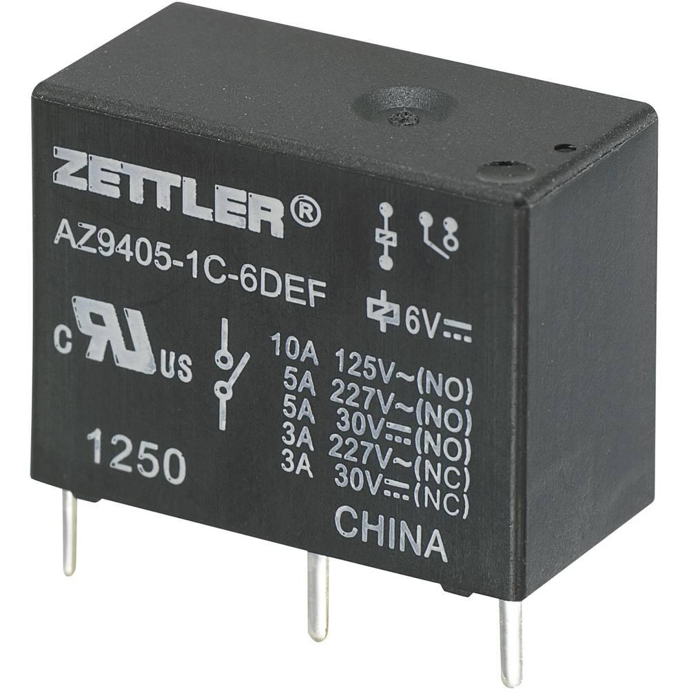 Miniaturni močnostni rele AZ9405, 10 A Zettler Electronics AZ9405-1C-9DEF 9 V/DC 1 preklopnik (NO) maks. 10 A/(NC) maks. 3 A