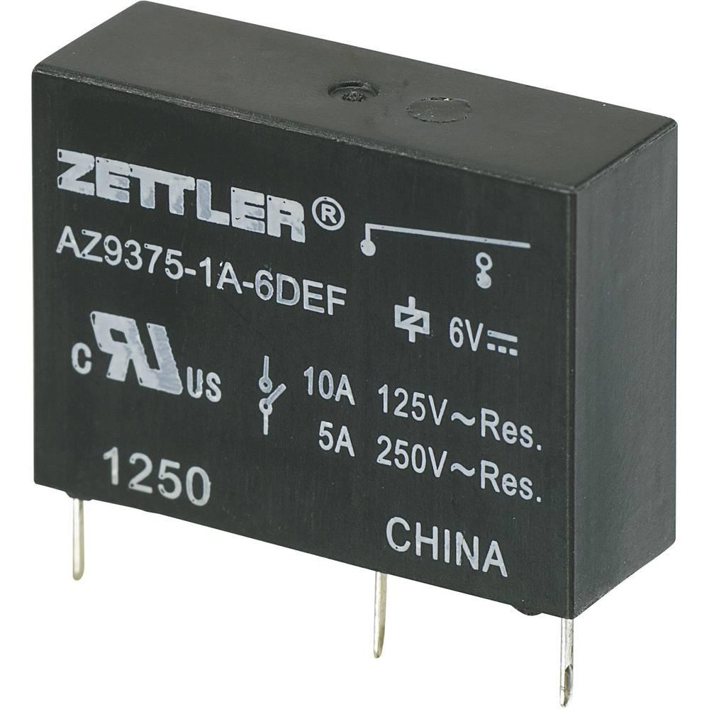 Miniaturni močnostni rele AZ9375, 10 A Zettler Electronics AZ9375-1A-24DEF 24 V/DC 1 zapiralo maks. 10 A maks. 30 V/DC/27