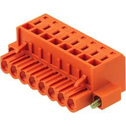 Vtični konektor za tiskana vezja oranžne barve Weidmüller 1803380000 vsebuje: 36 kosov