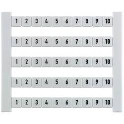 Terminal markører DEK 6 FSZ 1-10 0133360001 Hvid Weidmüller 500 stk