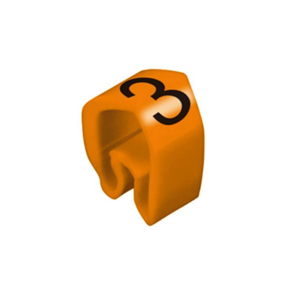 Mærkningsring Weidmüller CLI C 2-4 OR/SW 3 MP 0251311512 Orange 100 stk