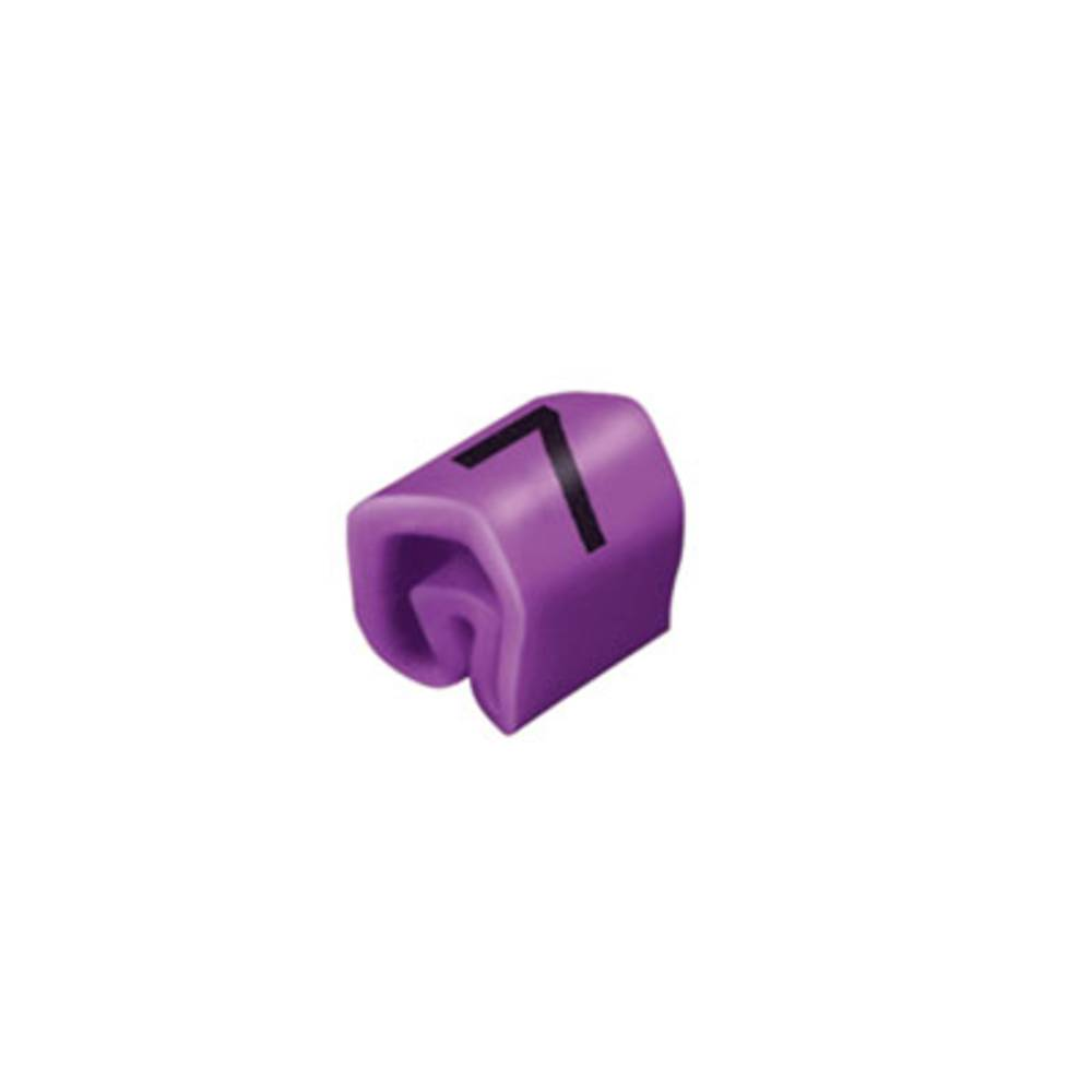 Mærkningsring Weidmüller CLI C 1-3 VI/SW 7 MP 0252611524 Violet 200 stk