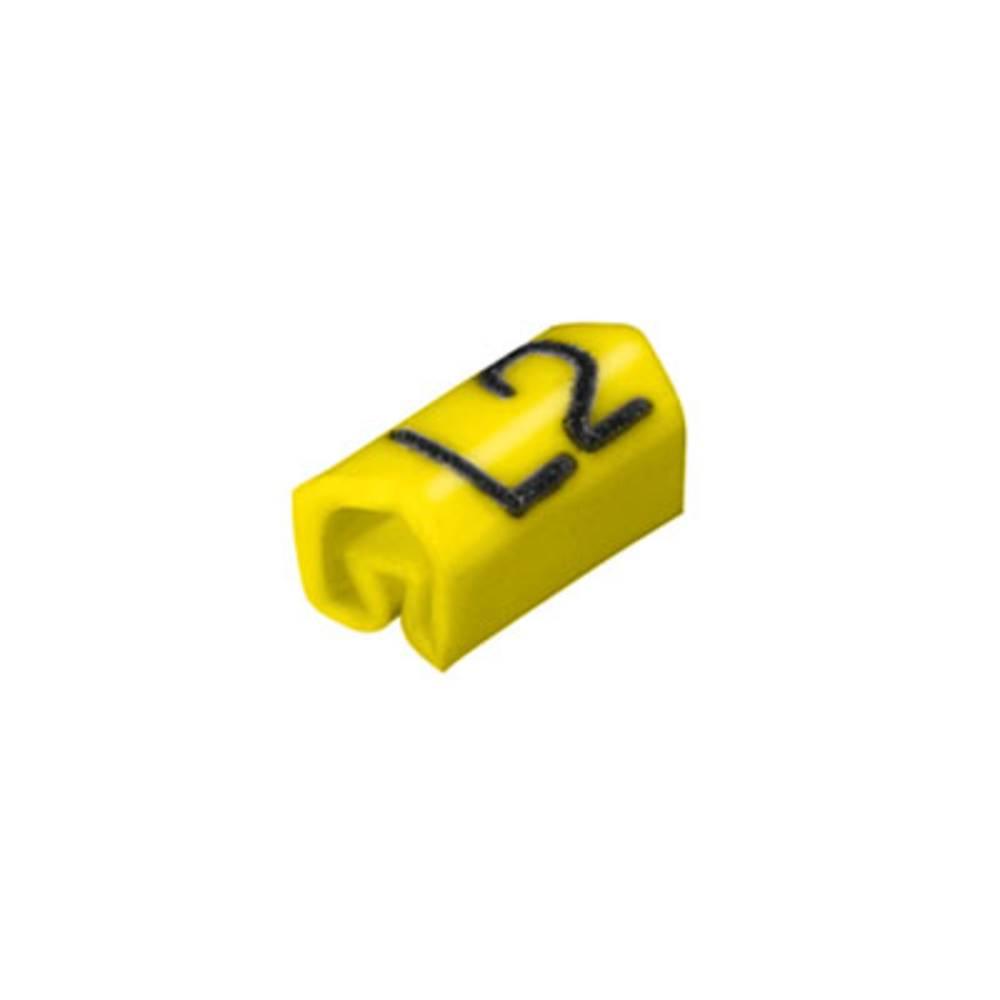 Mærkningsring Weidmüller CLI C 02-6 GE/SW L2 MP 0252111729 Gul 200 stk