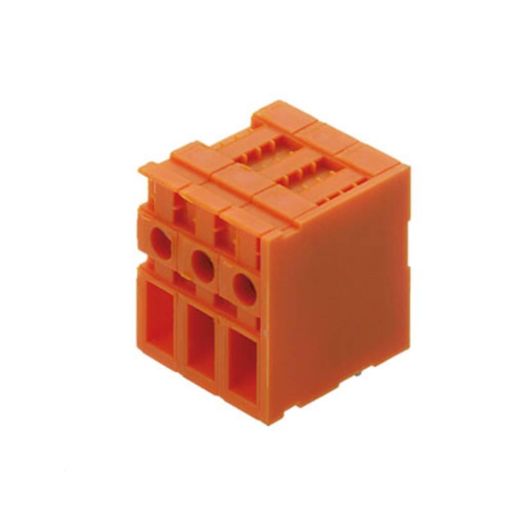 Skrueklemmeblok Weidmüller TOP4GS3/90 7.62 OR 4.00 mm² Poltal 3 Orange 50 stk