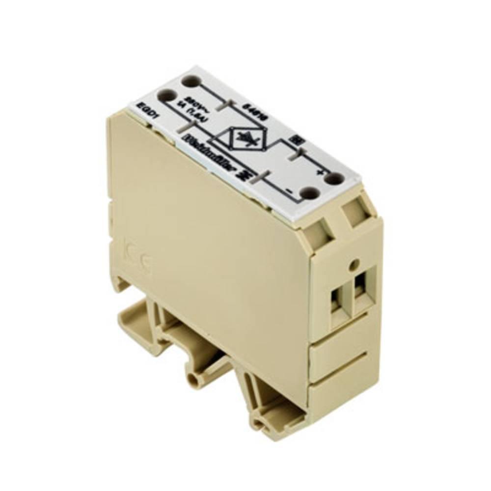 Gleichrichterschaltung (value.1292900) 10 stk Weidmüller EGD1 EG2 4D 5-250VAC/1A 5 - 240 V/AC IP20