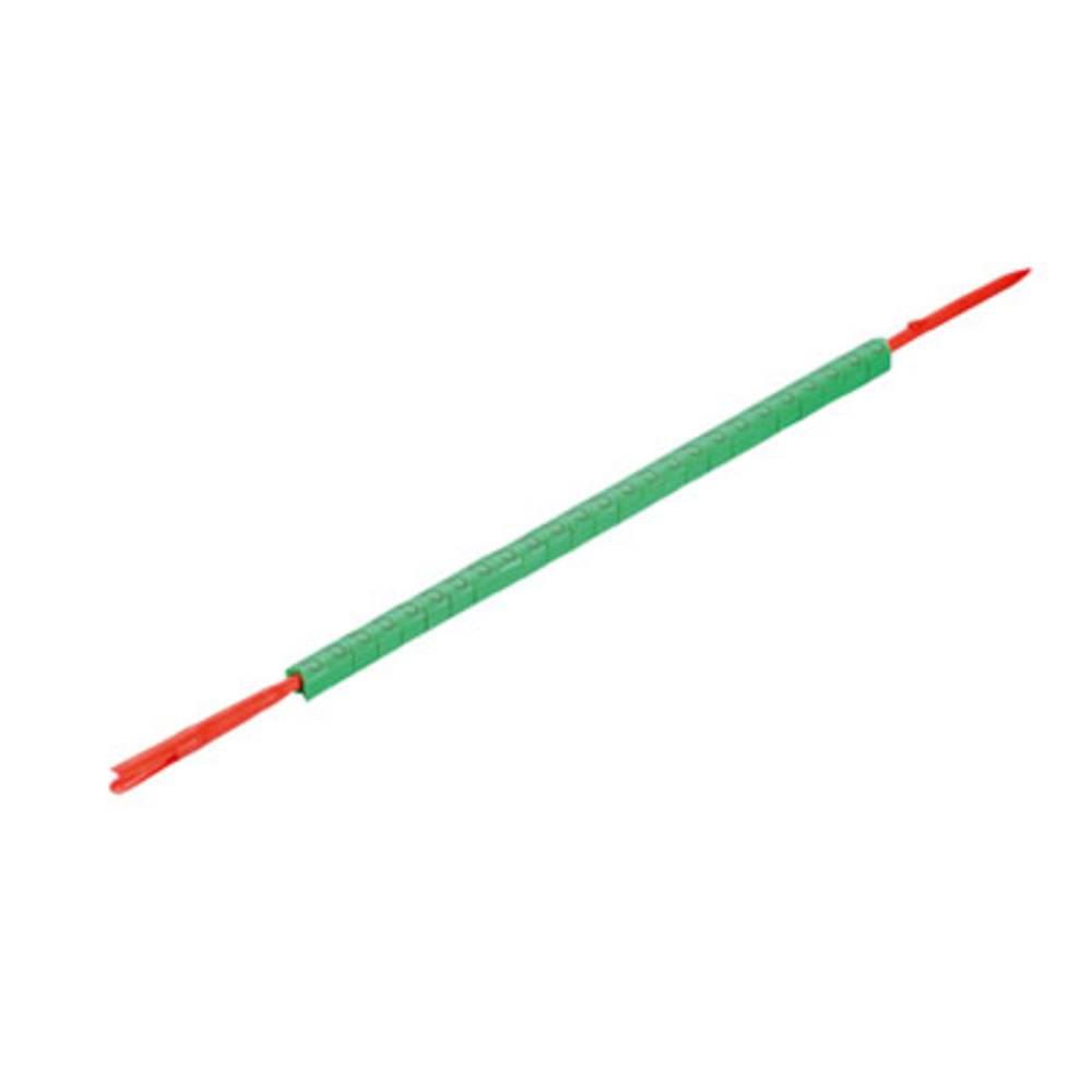 Mærkningsring Weidmüller CLI R 02-3 GN/SW 5 0560001518 Grøn 250 stk
