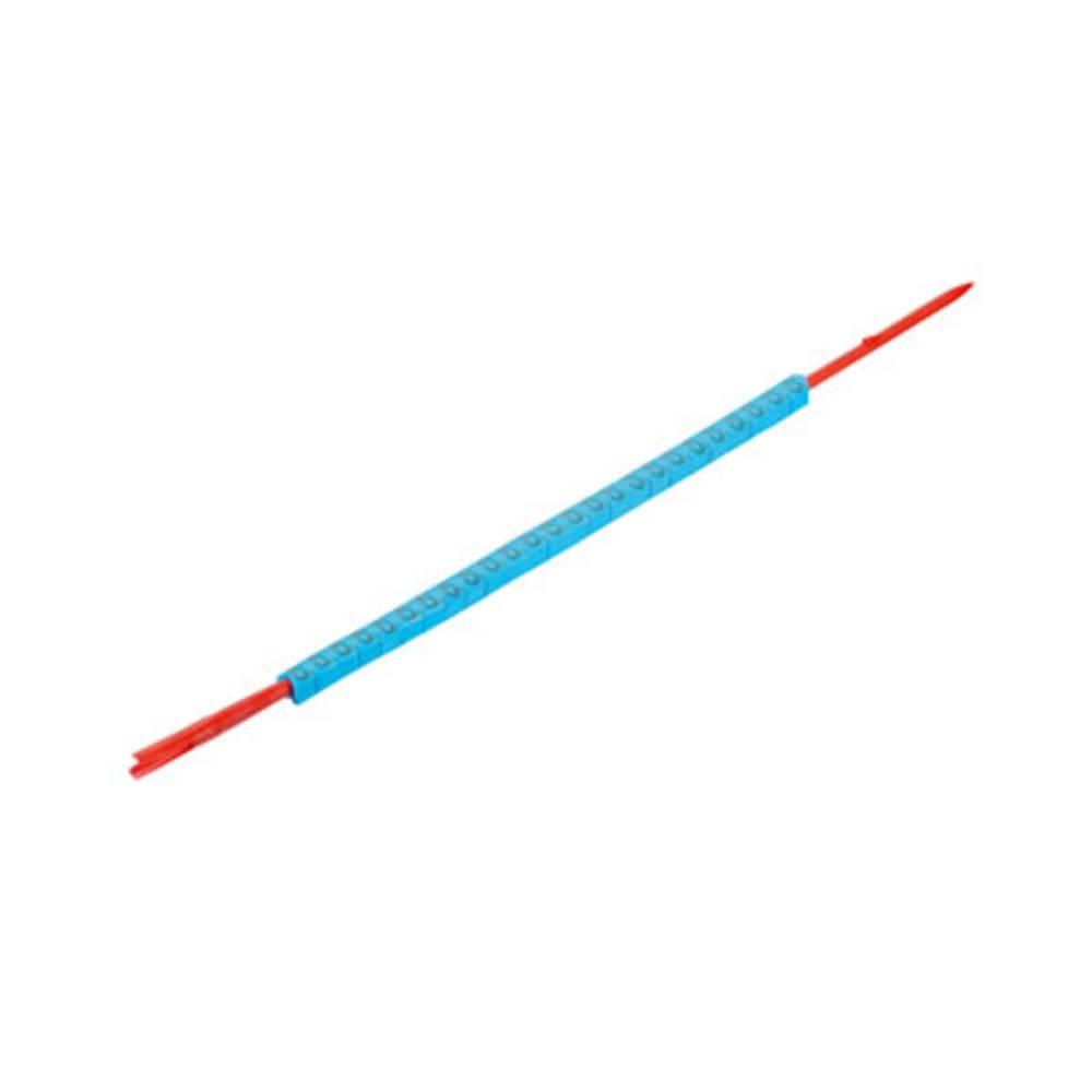 Mærkningsring Weidmüller CLI R 02-3 BL/SW 6 0560001521 Atolblå 250 stk