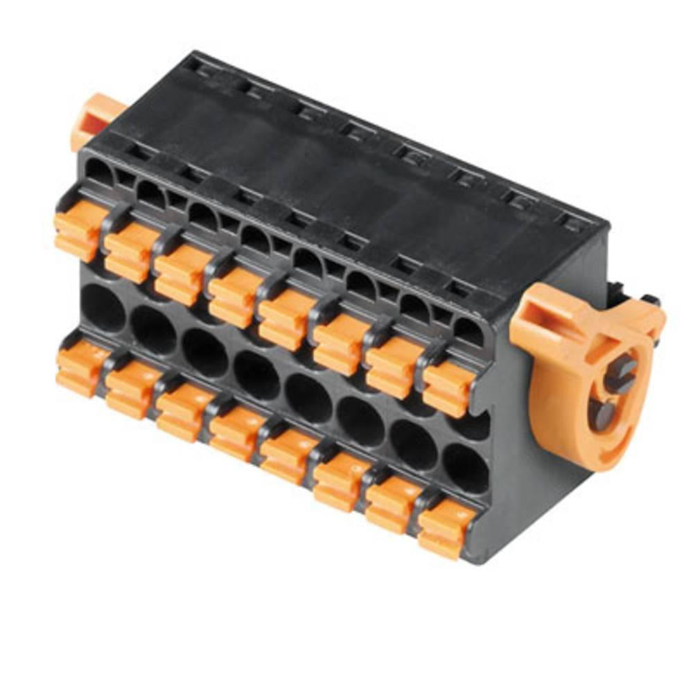 Vtični konektor za tiskana vezja oranžne barve Weidmüller 1065150000 vsebuje: 40 kosov