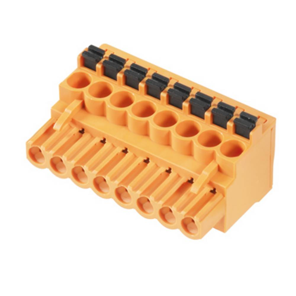 Vtični konektor za tiskana vezja oranžne barve Weidmüller 1001670000 vsebuje: 18 kosov