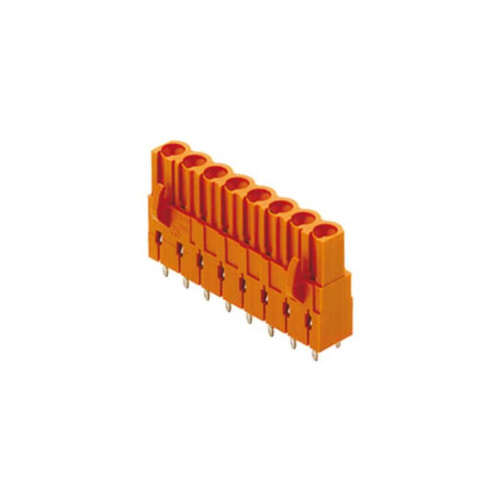 Vtični konektor za tiskana vezja oranžne barve Weidmüller 1646180000 vsebuje: 60 kosov