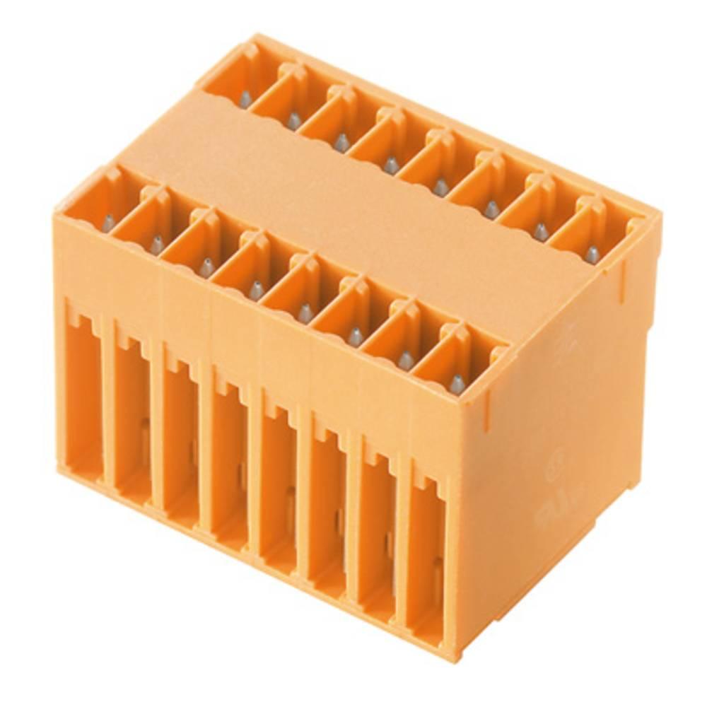 Vtični konektor za tiskana vezja oranžne barve Weidmüller 1030020000 vsebuje: 50 kosov