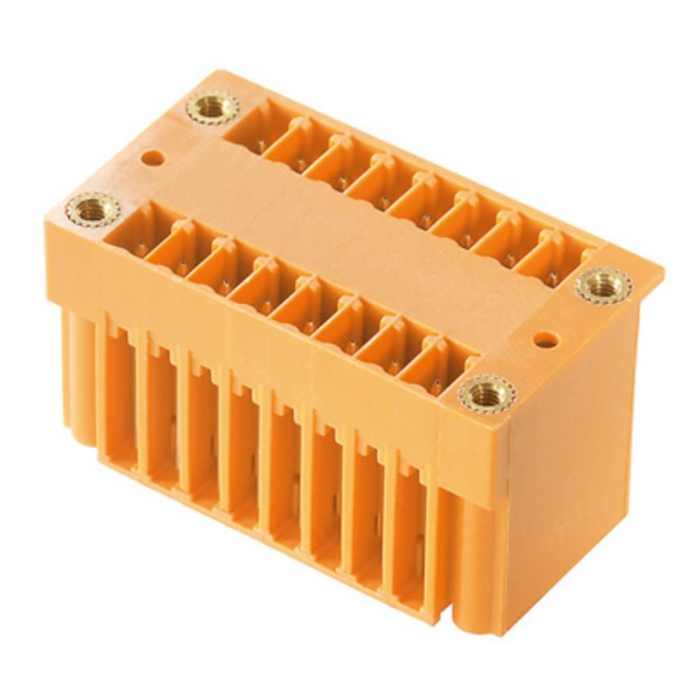 Vtični konektor za tiskana vezja oranžne barve Weidmüller 1030460000 vsebuje: 50 kosov