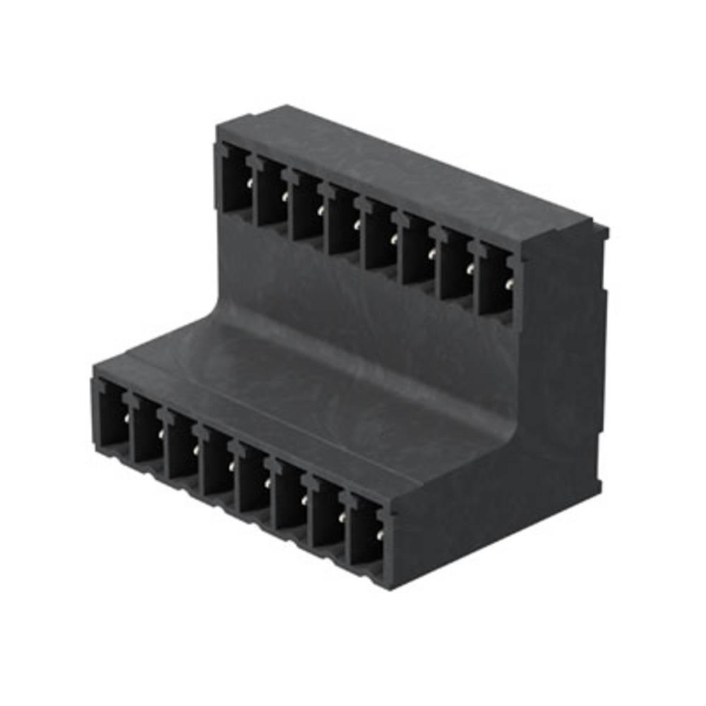 Vtični konektor za tiskana vezja črne barve Weidmüller 1033620000 vsebuje: 20 kosov