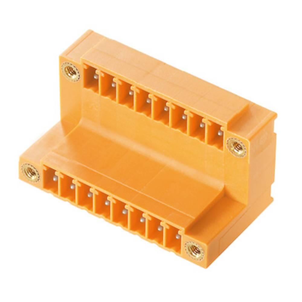 Vtični konektor za tiskana vezja oranžne barve Weidmüller 1032680000 vsebuje: 50 kosov