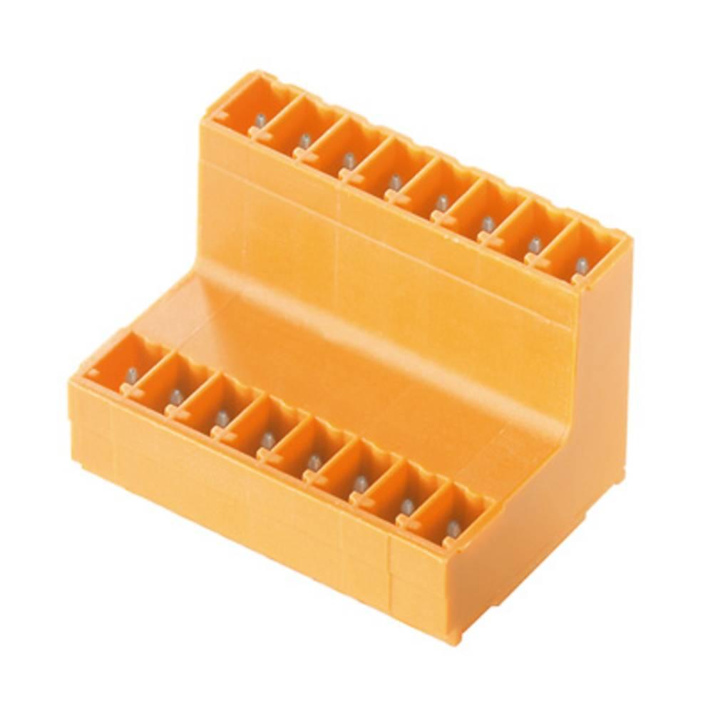 Vtični konektor za tiskana vezja oranžne barve Weidmüller 1034570000 vsebuje: 50 kosov