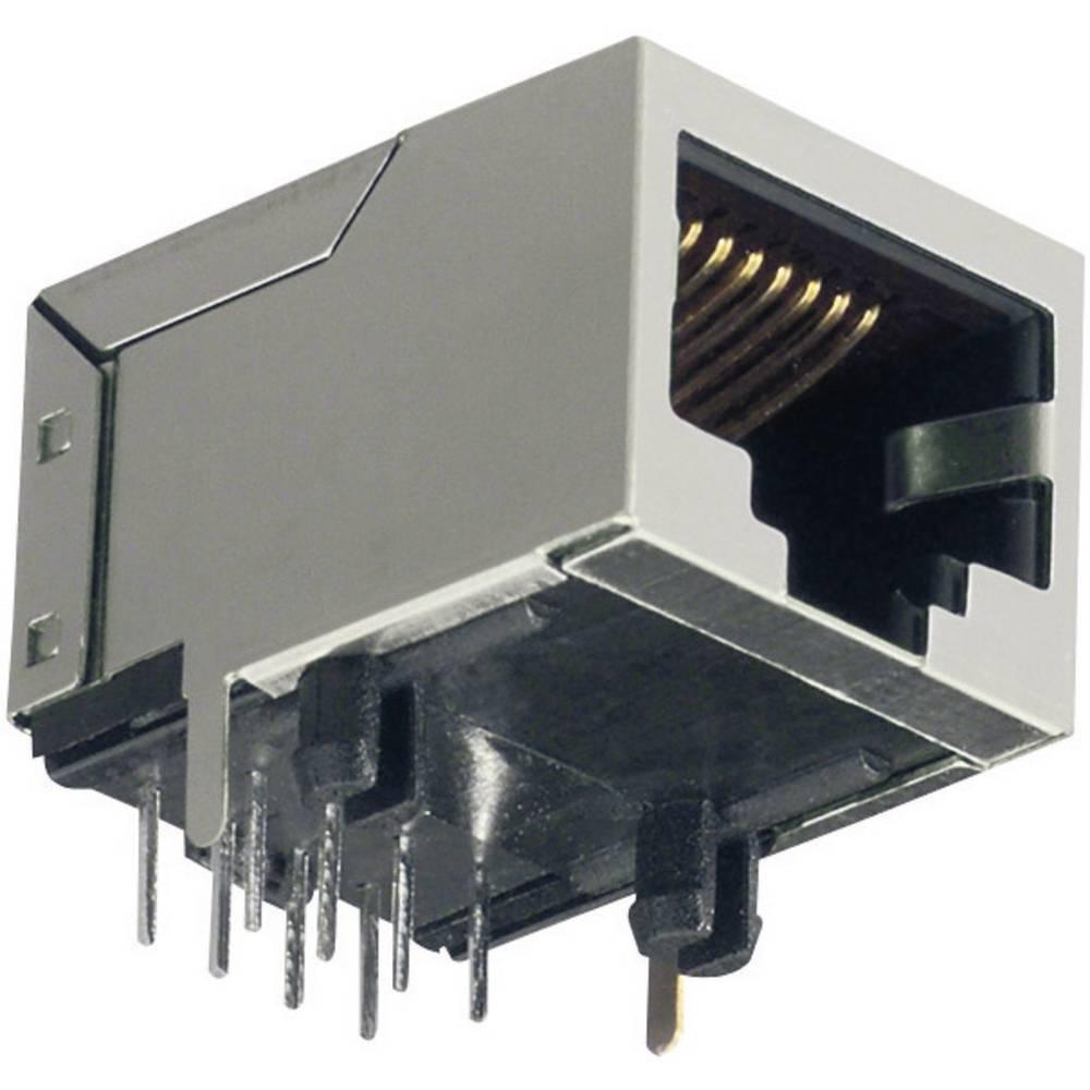 RJ45 Tilslutning, vinklet BKL Electronic 143206 CAT 3 Grå 1 stk