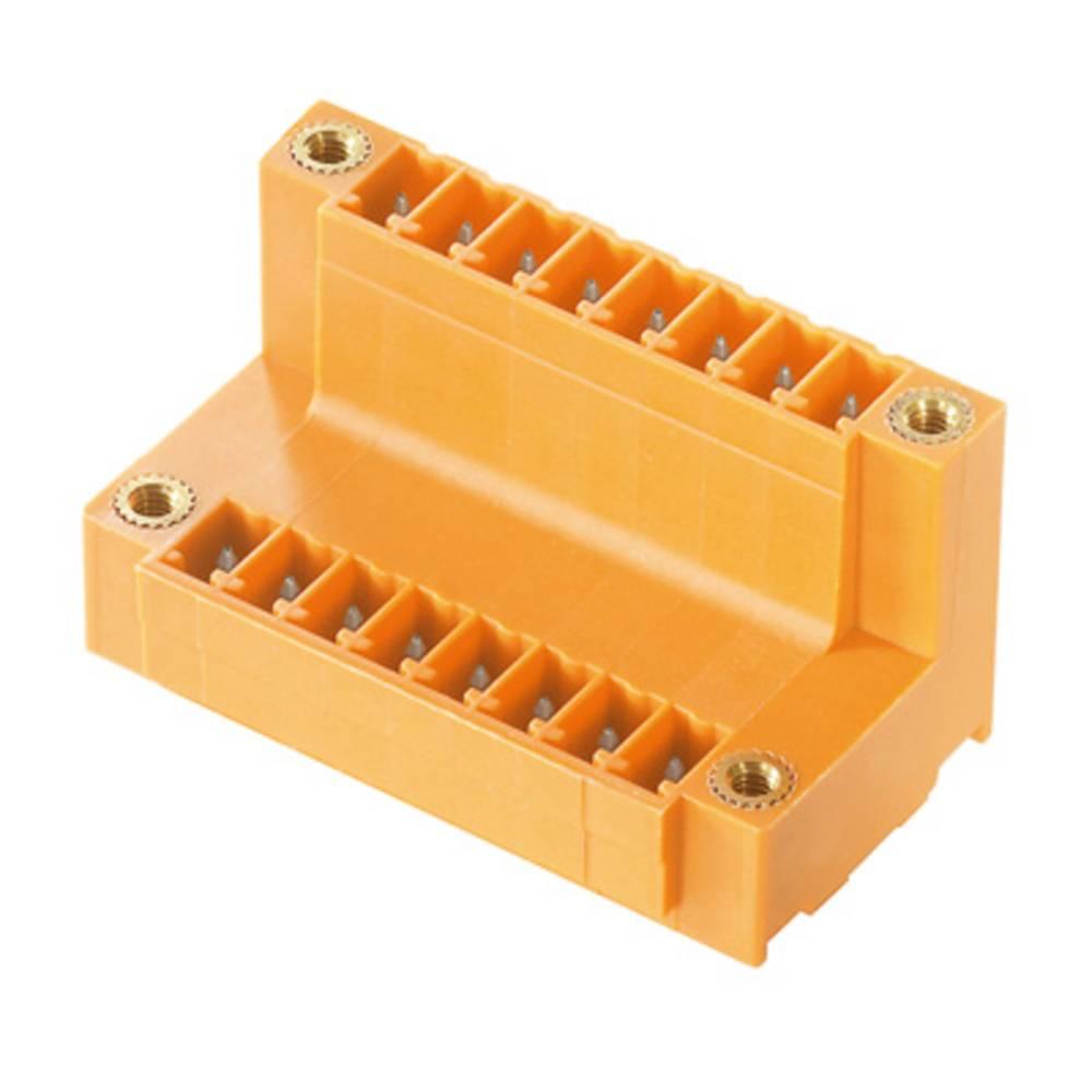 Vtični konektor za tiskana vezja oranžne barve Weidmüller 1035050000 vsebuje: 50 kosov