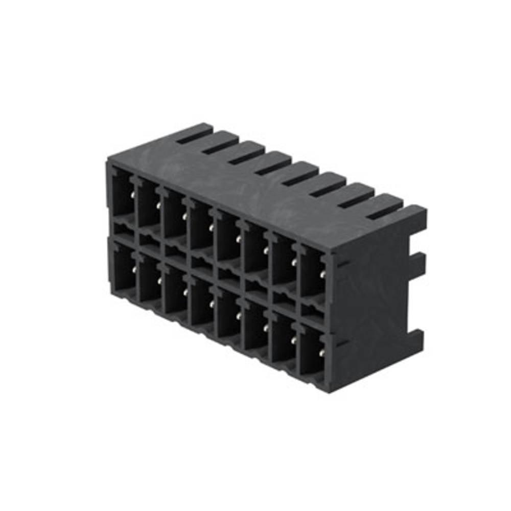 Vtični konektor za tiskana vezja črne barve Weidmüller 1040870000 vsebuje: 50 kosov