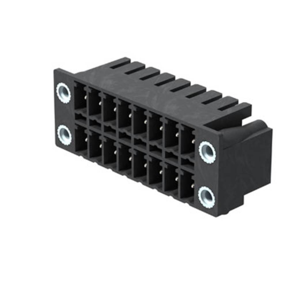 Vtični konektor za tiskana vezja črne barve Weidmüller 1039570000 vsebuje: 50 kosov