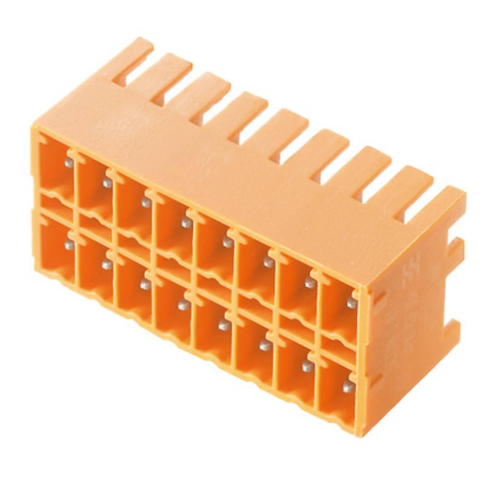 Vtični konektor za tiskana vezja oranžne barve Weidmüller 1040530000 vsebuje: 50 kosov