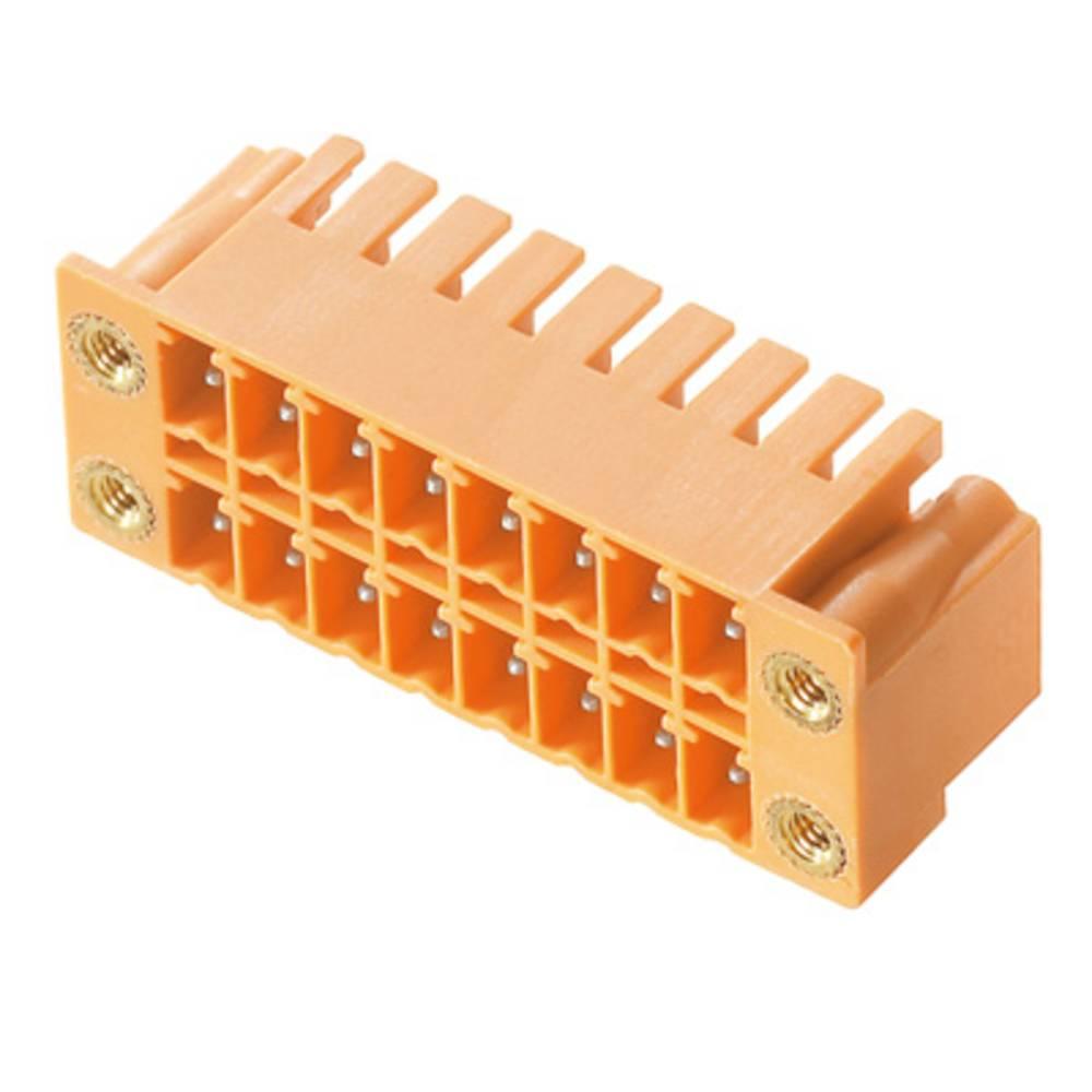 Vtični konektor za tiskana vezja oranžne barve Weidmüller 1041110000 vsebuje: 20 kosov