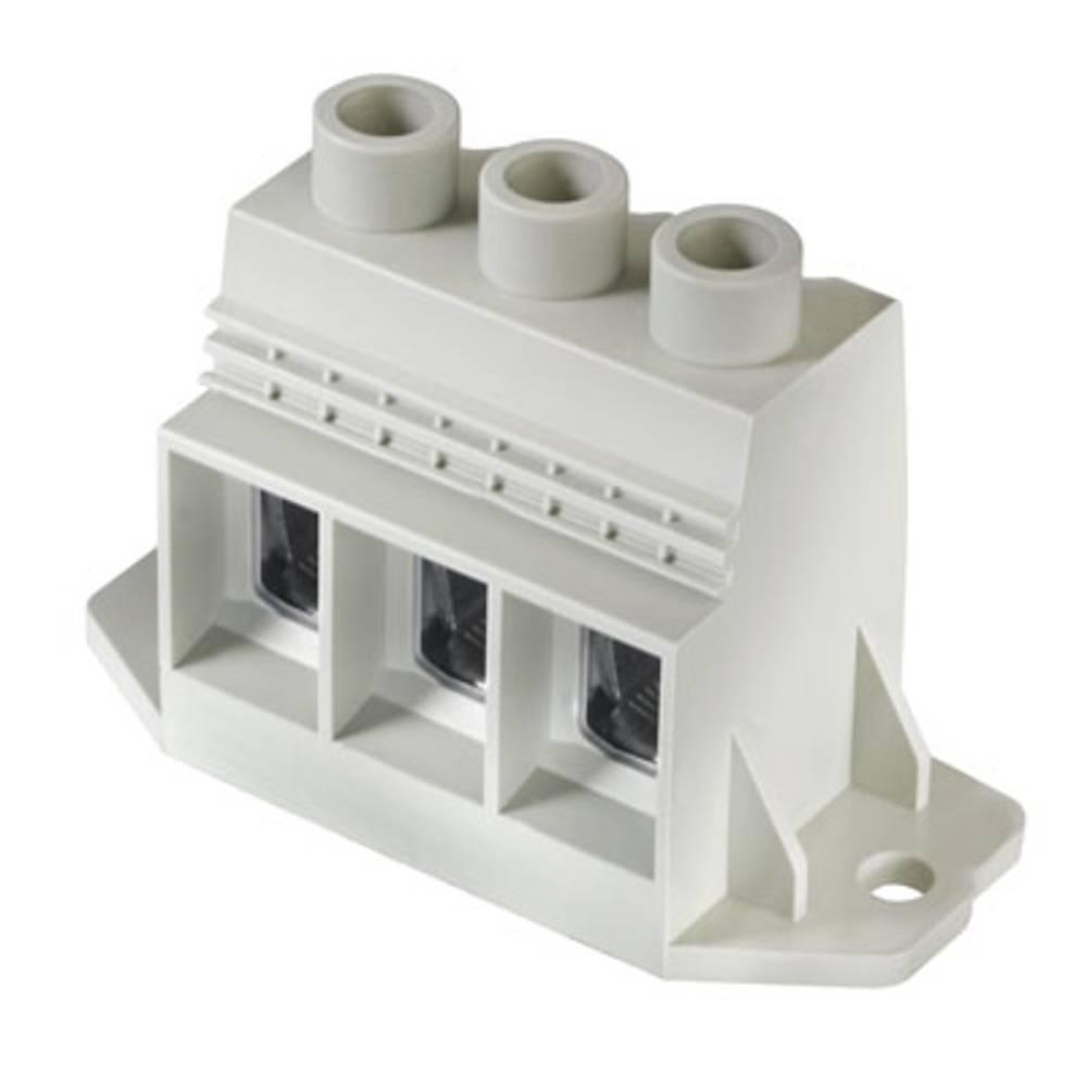 Skrueklemmeblok Weidmüller LXXX 15.00/03/90F 4.5SN GY BX 35.00 mm² Poltal 3 Grå 10 stk