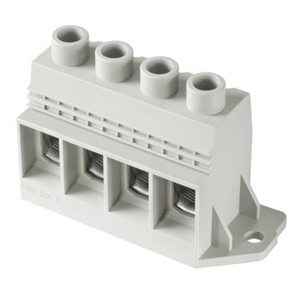 Skrueklemmeblok Weidmüller LXXX 15.00/02/90FR 4.5SN GY BX 35.00 mm² Poltal 2 Grå 20 stk