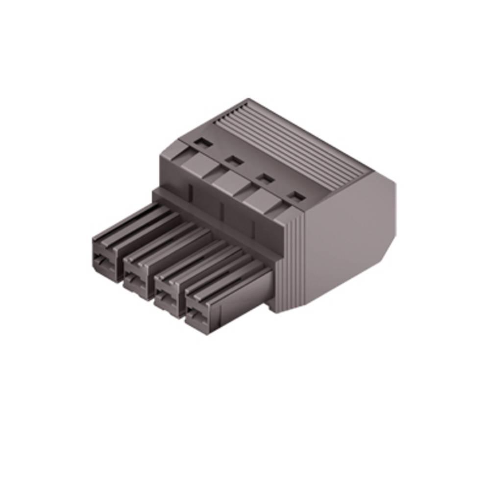 Tilslutningskabinet-kabel Samlet antal poler 5 Weidmüller 1060420000 Rastermål: 7.62 mm 40 stk