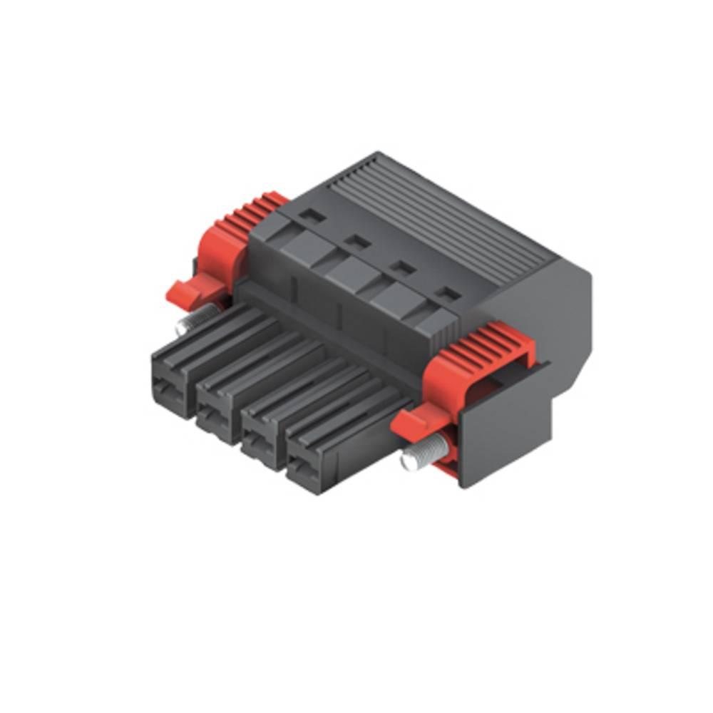 Tilslutningskabinet-kabel Samlet antal poler 4 Weidmüller 1060520000 Rastermål: 7.62 mm 30 stk
