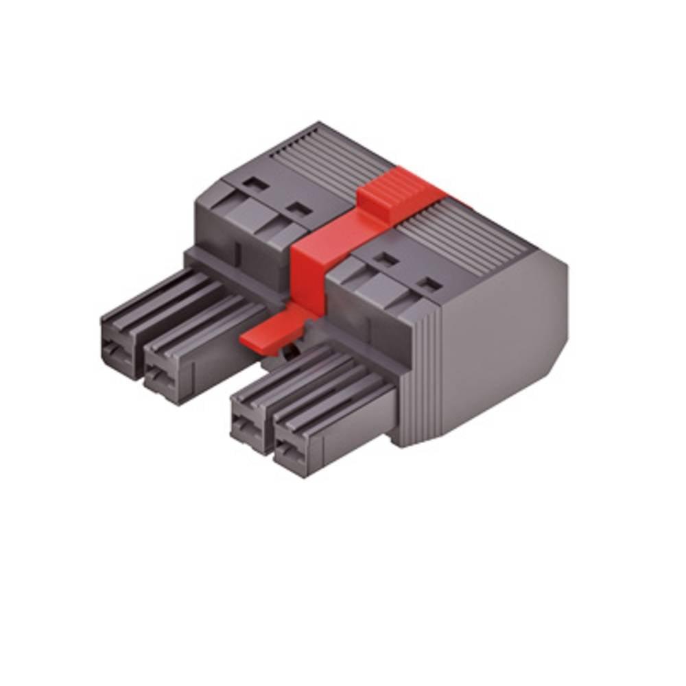 Tilslutningskabinet-kabel Samlet antal poler 4 Weidmüller 1060590000 Rastermål: 7.62 mm 40 stk