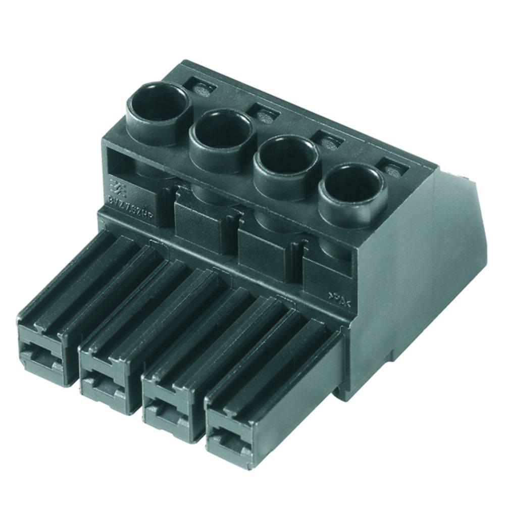 Tilslutningskabinet-kabel Samlet antal poler 6 Weidmüller 1060700000 Rastermål: 7.62 mm 25 stk