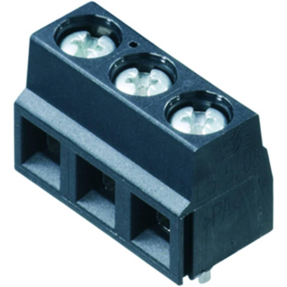 Skrueklemmeblok Weidmüller LS 5.08/12/90 3.5SN BK BX 1.50 mm² Poltal 12 Sort 100 stk