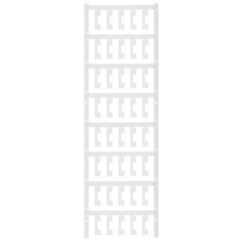 Makering af apparater Weidmüller ESG 6.6/20 BHZ 5.00/04 1082540000 200 stk Antal markører 200 Hvid