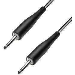 Instrumentkabel Svart Teleplugg 6,3 mm/teleplugg 6,3 mmMed flexibelt gummihölje.