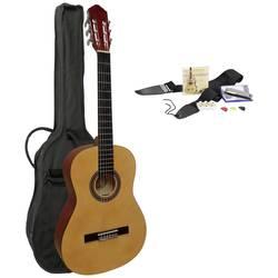Akustisk gitarr paket MSA Musikinstrumente C22 4/4 Natur inkl. väska