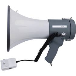 Megafon SpeaKa Professional ER-66S med handmikrofon, med fästrem, integrerat ljud