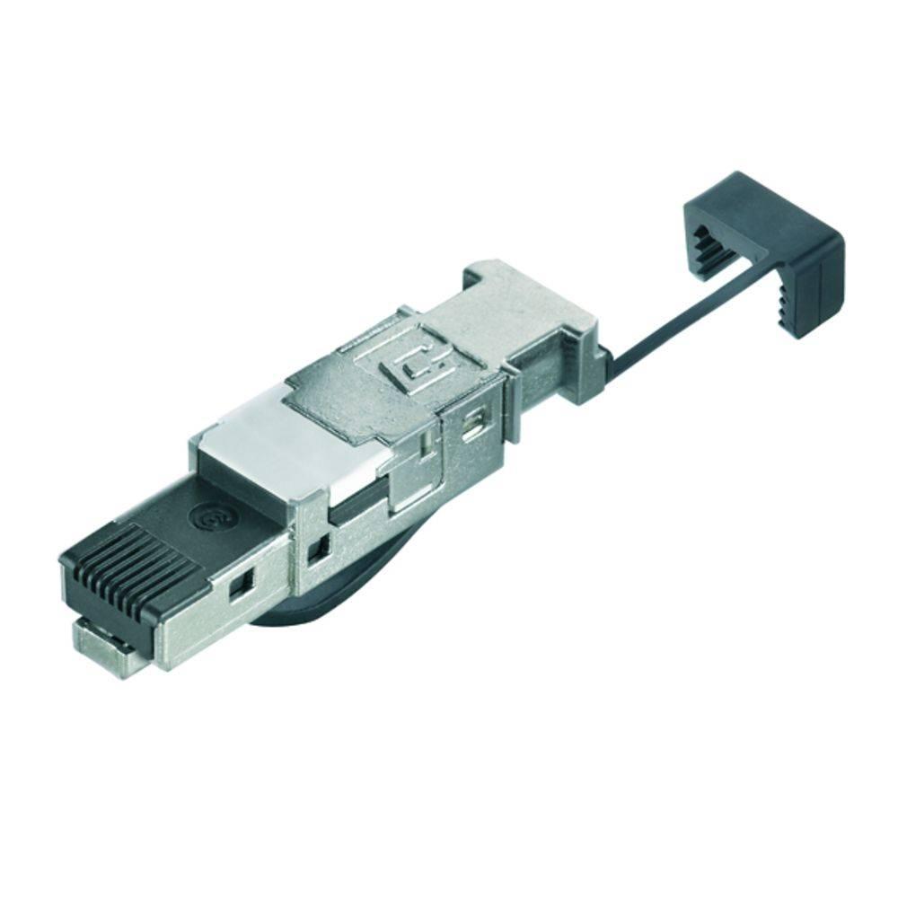 Sensor-/Aktor-datastikforbinder Stik, lige Weidmüller 1132050000 IE-PS-RJ45-FH-BK-B 10 stk