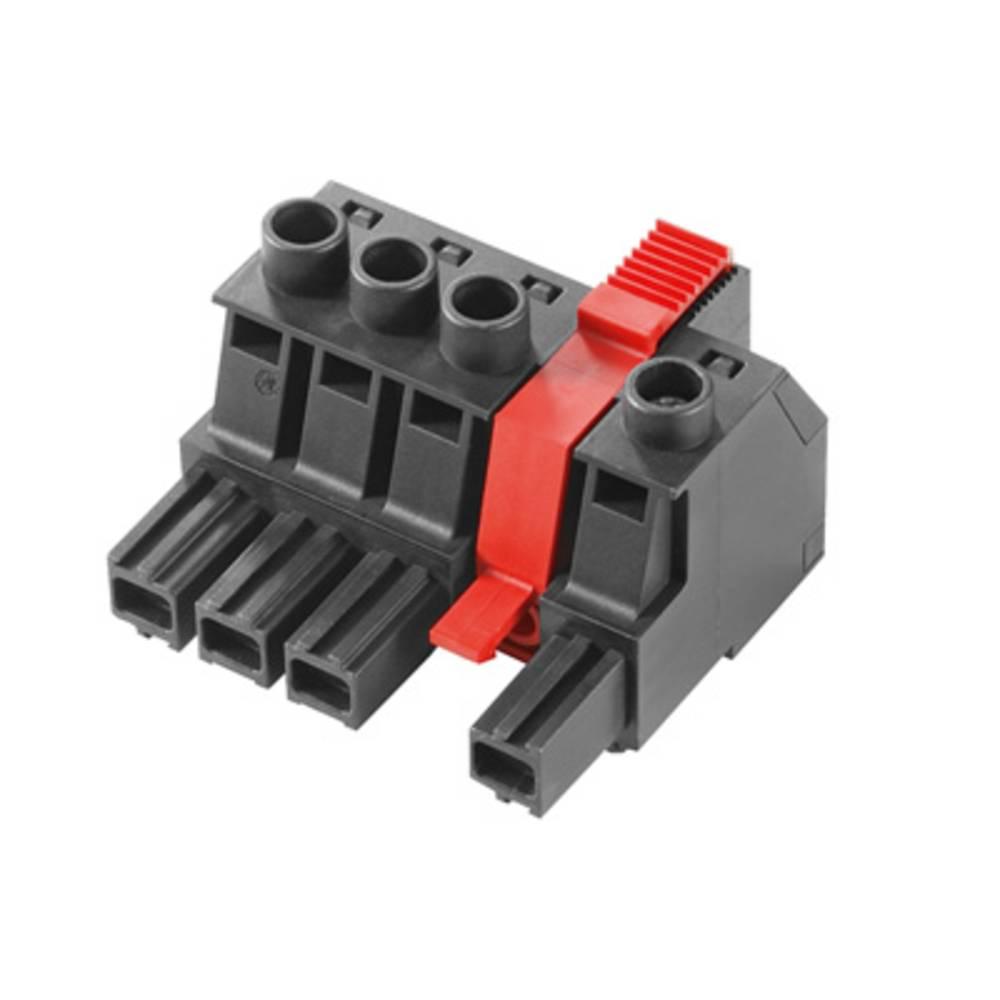 Tilslutningskabinet-kabel BU/SU (value.1360604) Samlet antal poler 3 Weidmüller 1156610000 Rastermål: 10.16 mm 21 stk