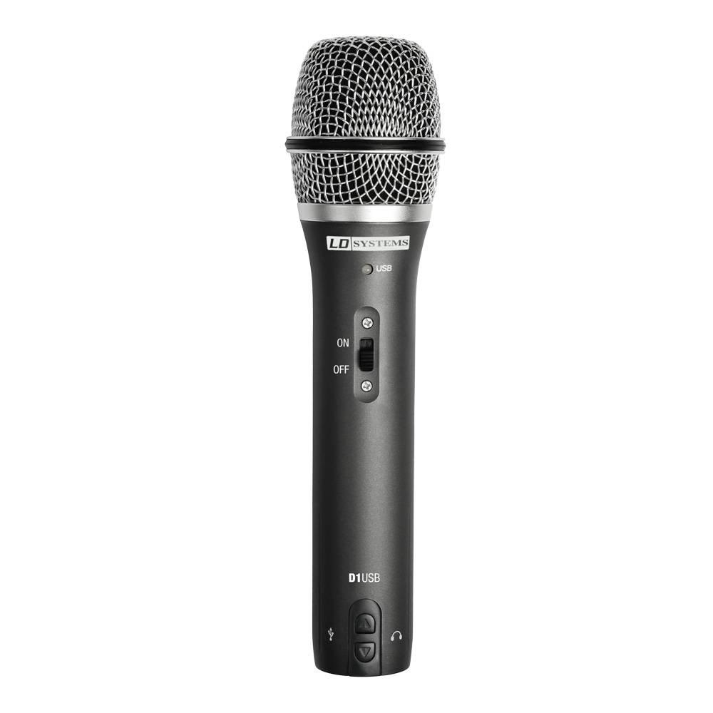 Pevski mikrofon LD Systems D1USB žični