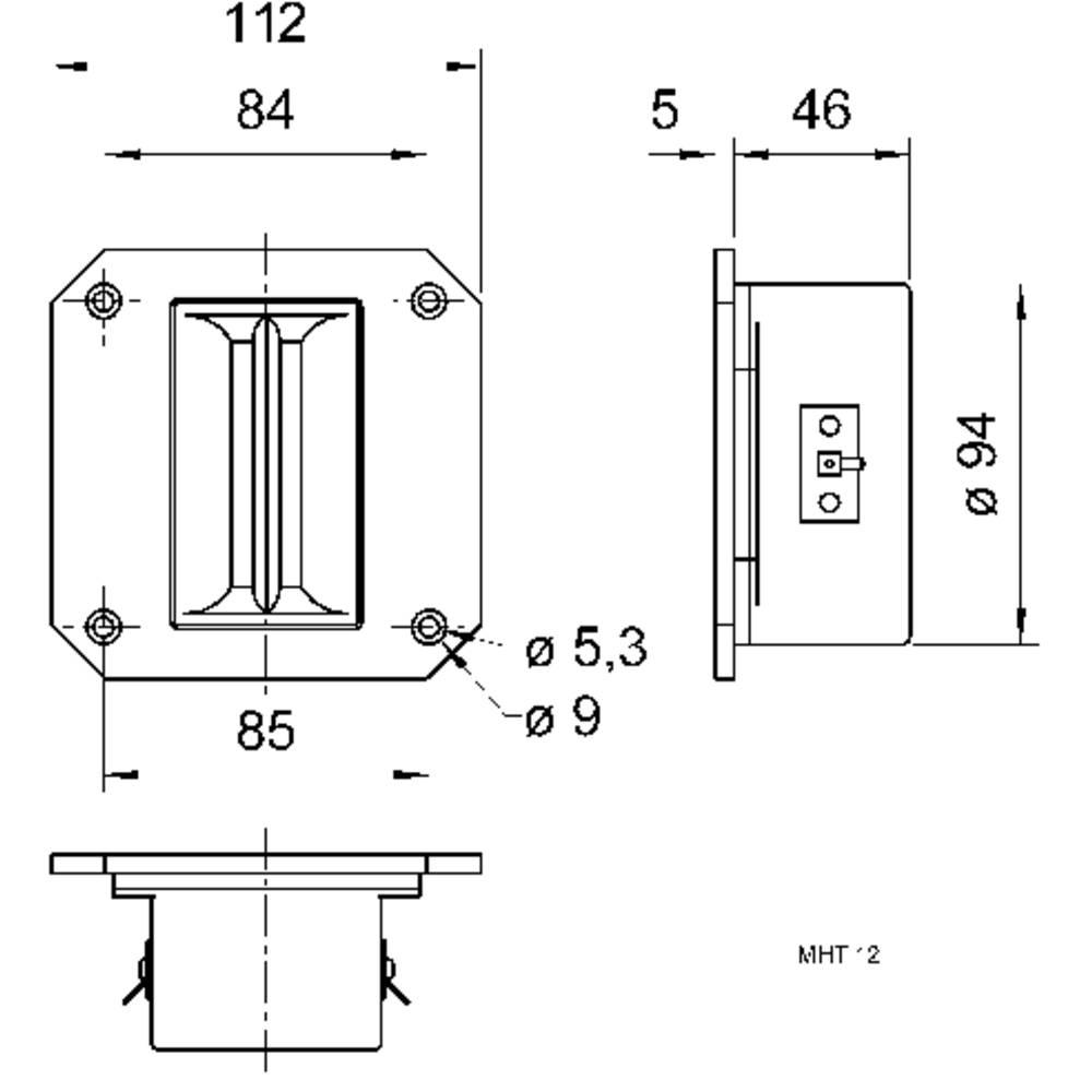 Visaton MHT 12 tračni visokotonec, 8 Ω