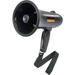 Mini-megafon Basetech Deutschland Fan integrerat ljud, med fästrem