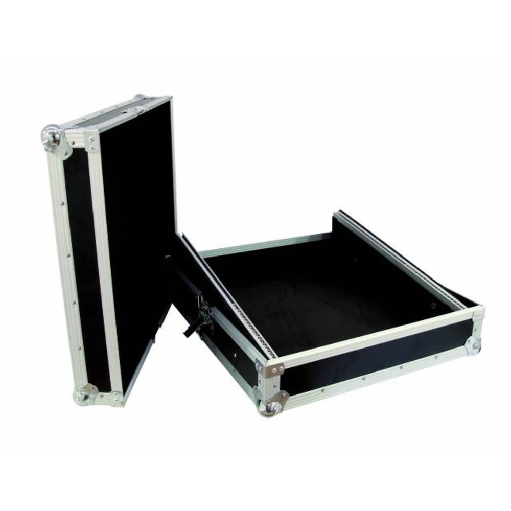 Kovček za mešalno mizo Profi MCB-19, nagnjen, črn 12HE