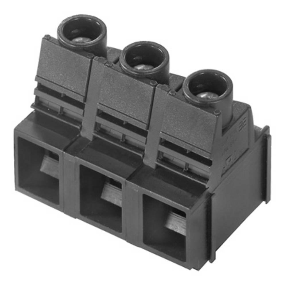Skrueklemmeblok Weidmüller LUP 12.70/02/90 3.2SN BK BX 16.00 mm² Poltal 2 Sort 20 stk