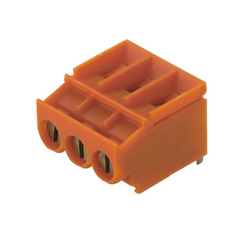 Skrueklemmeblok Weidmüller LP 5.00/03/180 3.2SN OR BX 4.00 mm² Poltal 3 Orange 100 stk