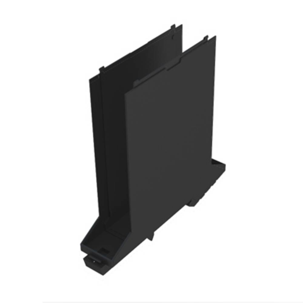 DIN-skinne-hus basiselement Weidmüller CH20M22 B BUS BK/BK 107.4 x 22.5 x 109.3 10 stk