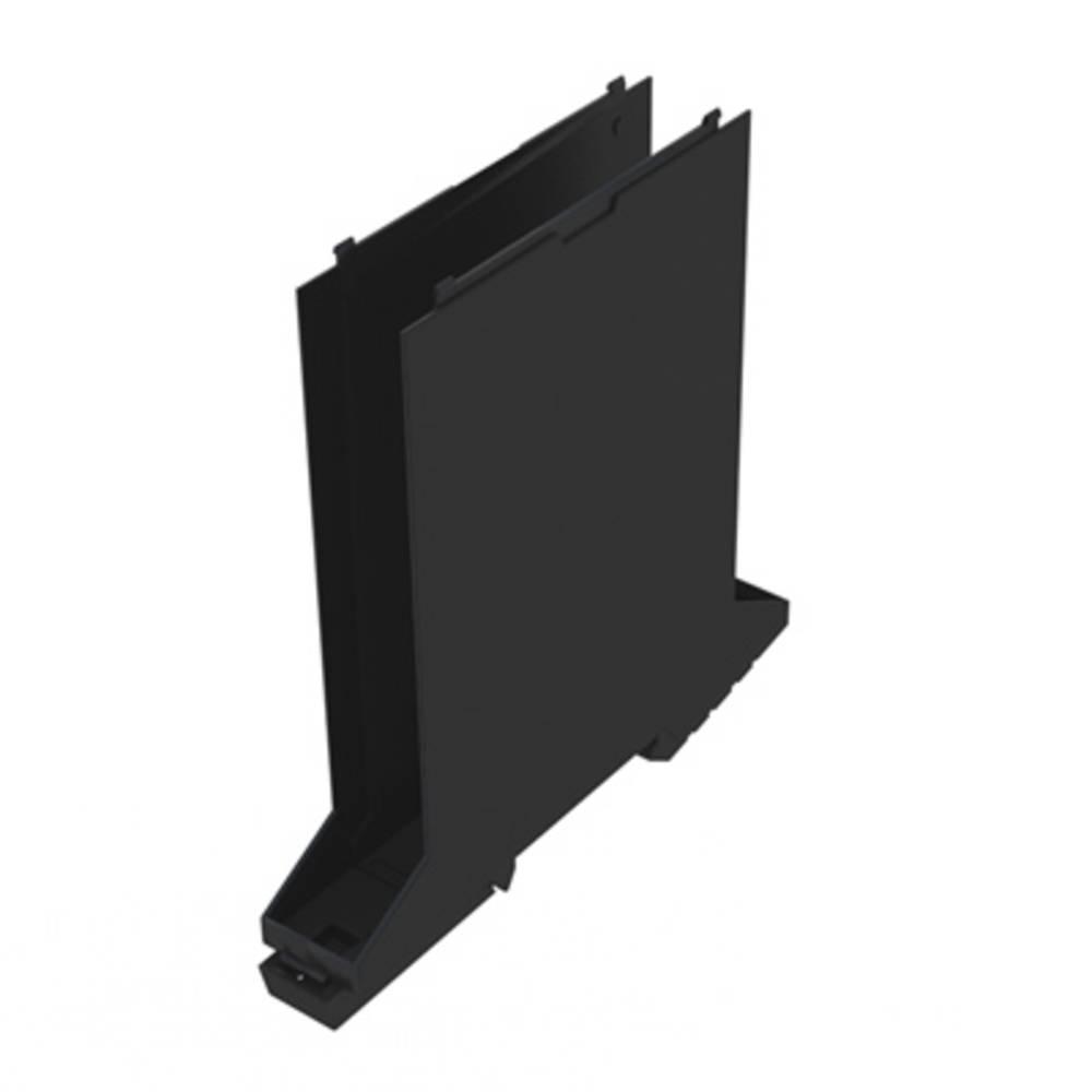 DIN-skinne-hus basiselement Weidmüller CH20M17 B BK/BK 107.4 x 17.5 x 109.3 12 stk