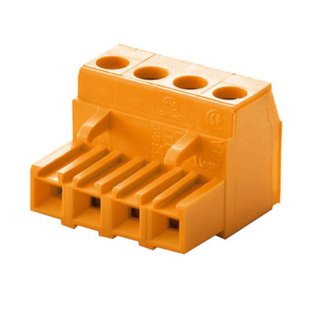 Tilslutningskabinet-kabel BLA/SLA 5.08 Samlet antal poler 4 Weidmüller 1281960000 Rastermål: 5.08 mm 90 stk