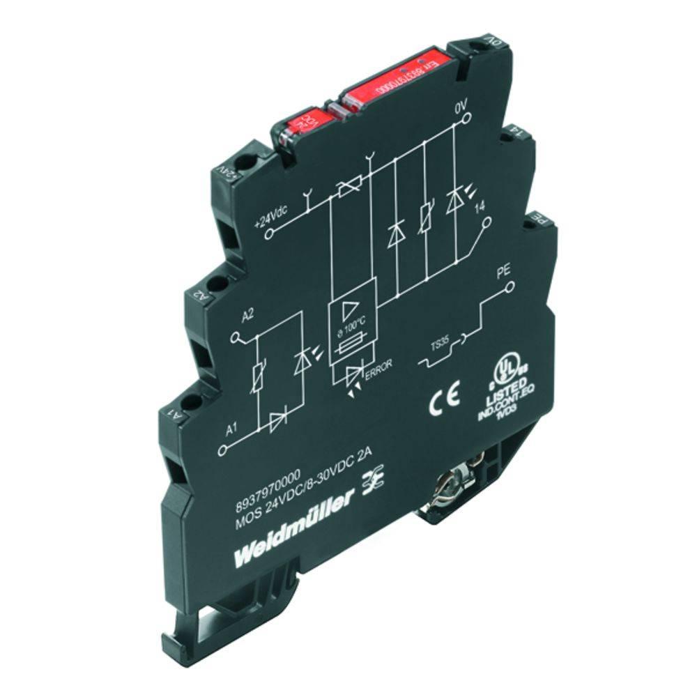 Halbleiterrelais (value.1292894) 10 stk Weidmüller MOS 24VDC/8-30VDC 2A E Last-Strøm (maks.): 2 A Koblingsspænding (max.): 30 V/