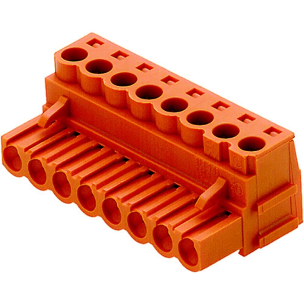 Priključne sponke, skupno število polov: 15 Weidmüller 1530060000 mere: 5.08 mm 30 kosov